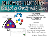 Following Directions; Build A Christmas Tree{Easy Prep Activity}