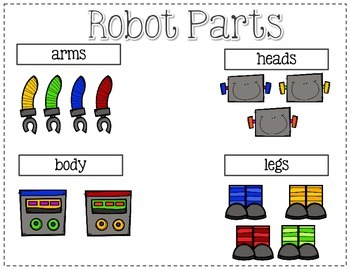 Following Directions; Build A Robot {Easy Prep Activity}