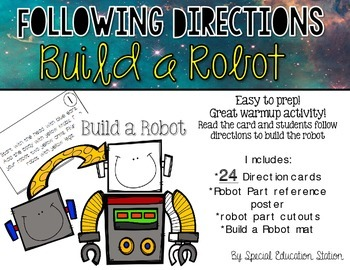 Listening & Following Directions Back To School Edition  Reading ...