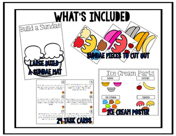 Following Directions; Build A Sundae {Easy Prep Activity}