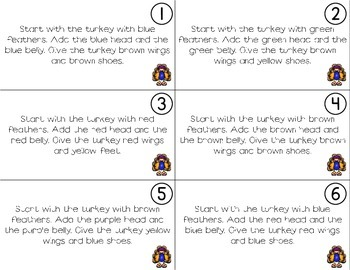 Following Directions; Build A Turkey {Easy Prep Activity}