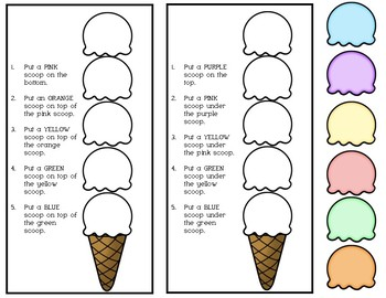 Following Directions: Build An Ice Cream Cone