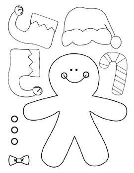 Following Directions: Build a Gingerbread Boy or Girl
