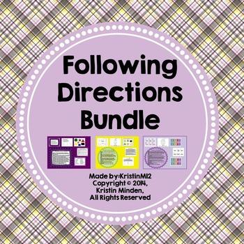 Following Directions Bundle