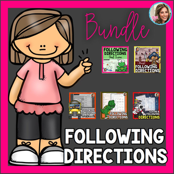 Following Directions Bundle   Speech and Language Therapy