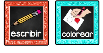 Following Directions Cards in Spanish - Black Background