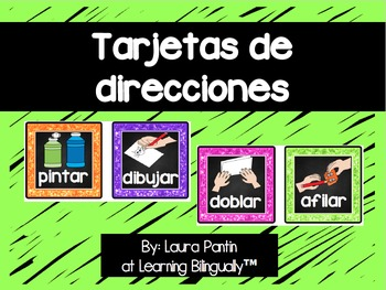 Following Directions Cards in Spanish