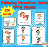 Following Directions Cards- (with visuals)