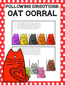 Following Directions: Cat Corral