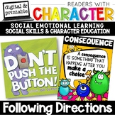 Following Directions - Character Education   Social Emotional Learning SEL