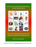 Following Directions Christmas Activities