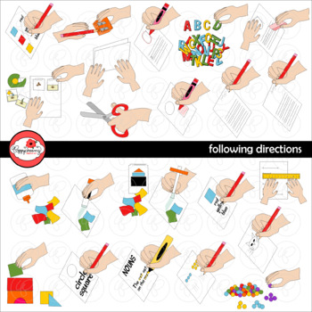 Following Directions Clipart by Poppydreamz