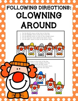 Following Directions: Clowning Around