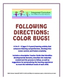 Following Directions: Color Bugs (Pre K - K Listening Comp