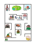 Following Directions Color Pathway Maze Reading Comprehens
