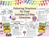 Following Directions Coloring Bundle!