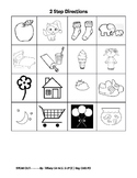 Following Directions Coloring Activity (two-step directions)