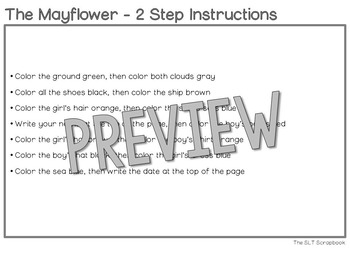 Following Directions Coloring Pack- Thanksgiving Themed, 1, 2, 3 directions