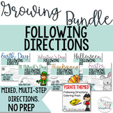 Following Directions Coloring Packs- A Growing Bundle- Mixed directions