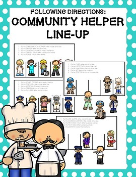Following Directions: Community Helper Line-Up