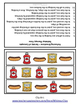 Following Directions - Cookout Theme - Freebie!