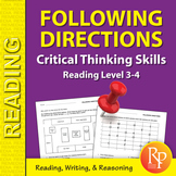 Following Directions: Critical Thinking Skills