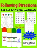 Following Directions Dab a Dot Marker Activities