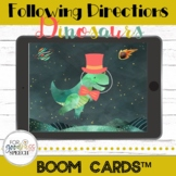 Following Directions Dinosaurs BOOM Cards™ NO Print