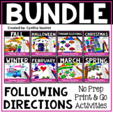 Following Directions Drawings Bundle | Critical Thinking Skills