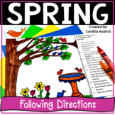 Following Directions Drawings Spring | Critical Thinking Skills