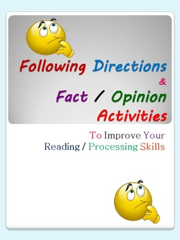 Following Directions & Fact/Opinion Activities