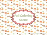 Following Directions: Fall Coloring Scene
