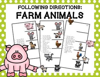 Following Directions: Farm Animals