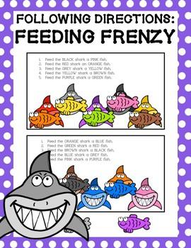 Following Directions: Feeding Frenzy