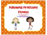 Following Directions Fitness: Receptive Language Activity