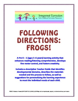 Following Directions: Frogs (Pre-K - 1st Reading/Listening Comprehension)