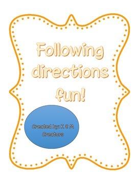 Following Directions Fun