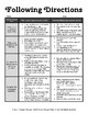 Following Directions Graphic Organizer