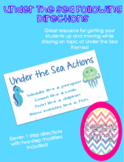 Following Directions Gross Motor Activity: Under The Sea