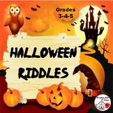 HALLOWEEN Riddles  CORE Language  FUN Vocabulary  Gr 3-4-5 Follow Directions