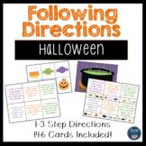 Following Directions: Halloween