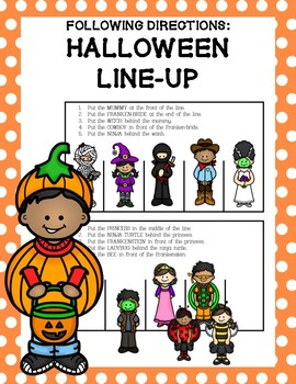 Following Directions: Halloween Line-Up