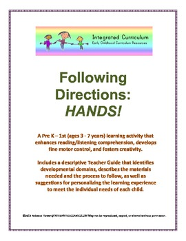 Following Directions: Hands (Pre K - First Listening Comprehension)