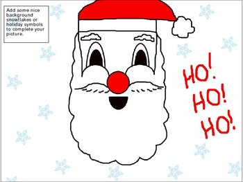 following directions how to draw santa s face holiday activity by