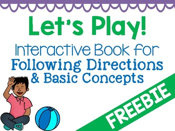 Interactive Book Activity for Following Directions & Basic Concepts