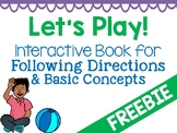 Hands-On Book Activity for Following Directions & Basic Concepts