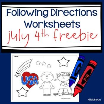 Following Directions July 4th Freebie