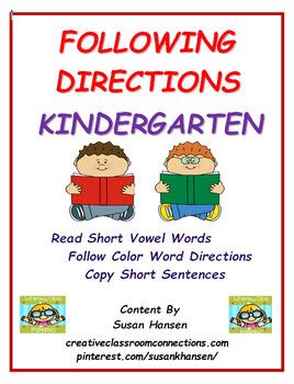 Following Directions: Kindergarten