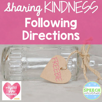 Following Directions Kindness Freebie