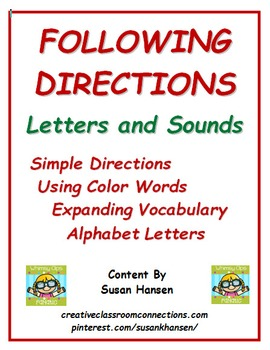 Following Directions: Letters, Sounds and Words